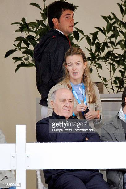 Sergio Alvarez Moya, Marta Ortega and Amancio Ortega attend the Global Champions Tour 2011 on May 8, 2011 in Valencia, Spain.