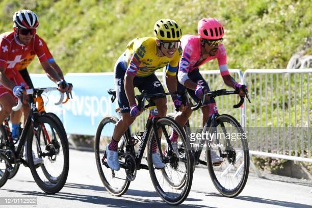 Sergio Andres Higuita Garcia of Colombia and Team EF Pro Cycling / Daniel Felipe Martinez Poveda of Colombia and Team EF Pro Cycling / during the...