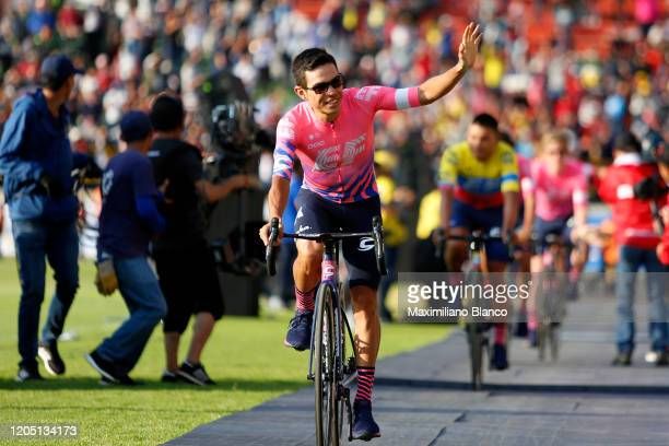 Sergio Andres Higuita Garcia of Colombia and Team EF Pro Cycling / during the 3rd Tour of Colombia 2020, Team Presentation on La Independencia...