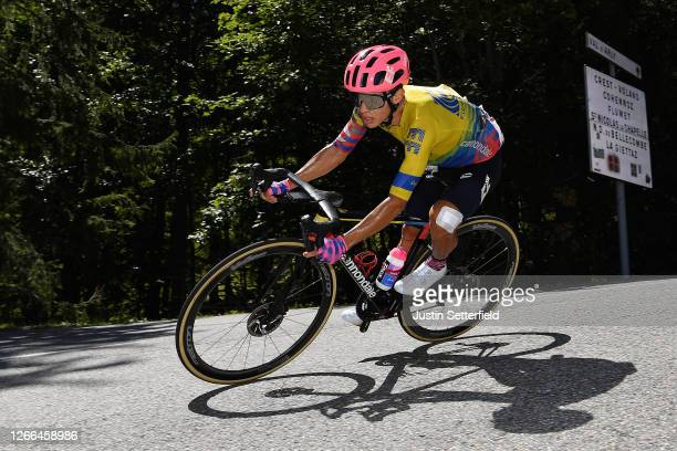 Sergio Andres Higuita Garcia of Colombia and Team EF Pro Cycling / during the 72nd Criterium du Dauphine 2020, Stage 4 a 153,3km stage from Ugine to...