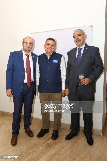 Sergio Arispe Bolivian, Ambassador to India, Hector Cueva Jacome, Ambassador of Ecuador to India, and Fleming Duarte, Ambassador of Paraguay to...