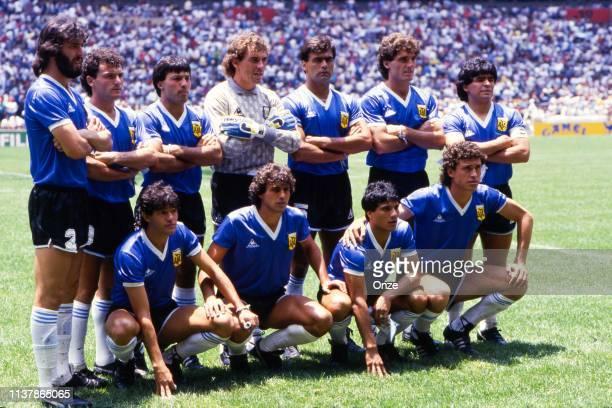 Sergio Batista, Jose Luis Cuciuffo, Oscar Ruggeri, Nery Pumpido, Jose Luis Brown, Ricardo Giusti, Diego Armando Maradona Jorge Valdano, Hector...
