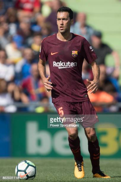 Sergio Busquets Burgos of FC Barcelona in action during the La Liga 201718 match between Getafe CF and FC Barcelona at Coliseum Alfonso Perez on 16...