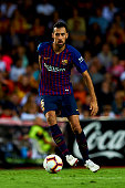 sergio busquets controls ball during week