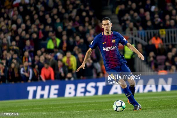 Sergio Busquets during the spanish football league match between FC Barcelona and Girona FC at the Camp Nou Stadium in Barcelona Catalonia Spain on...