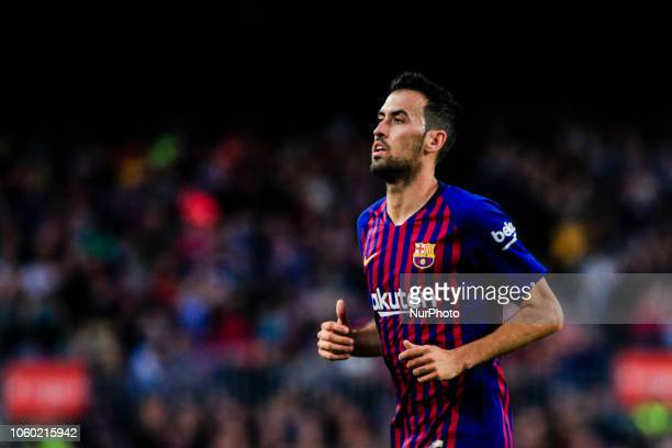 05 Sergio Busquets from Spain of FC Barcelona during the Spanish league football match between FC Barcelona and Real Betis at the Camp Nou stadium in...