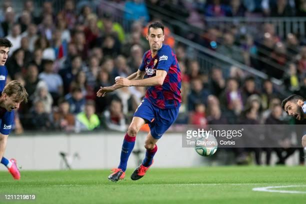 Sergio Busquets of Barcelona in action during the Barcelona V Real Sociedad La Liga regular season match at Estadio Camp Nou on March 7th 2020 in...