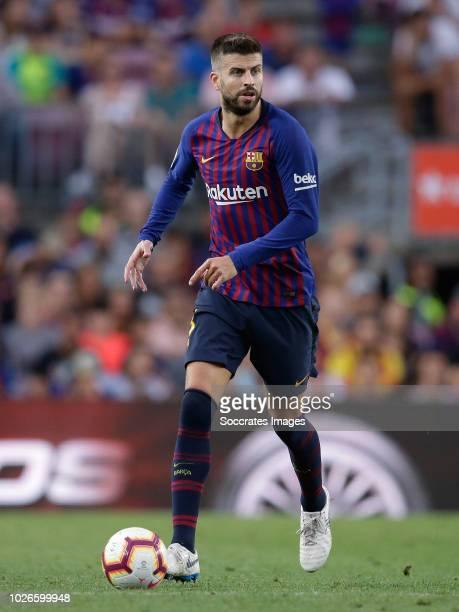 Sergio Busquets of FC Barcelona during the La Liga Santander match between FC Barcelona v SD Huesca at the Camp Nou on September 2 2018 in Barcelona...