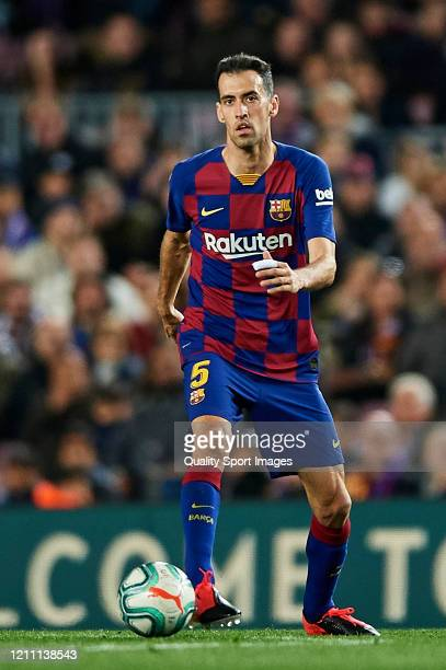 Sergio Busquets of FC Barcelona in action during the Liga match between FC Barcelona and Real Sociedad at Camp Nou on March 07 2020 in Barcelona Spain