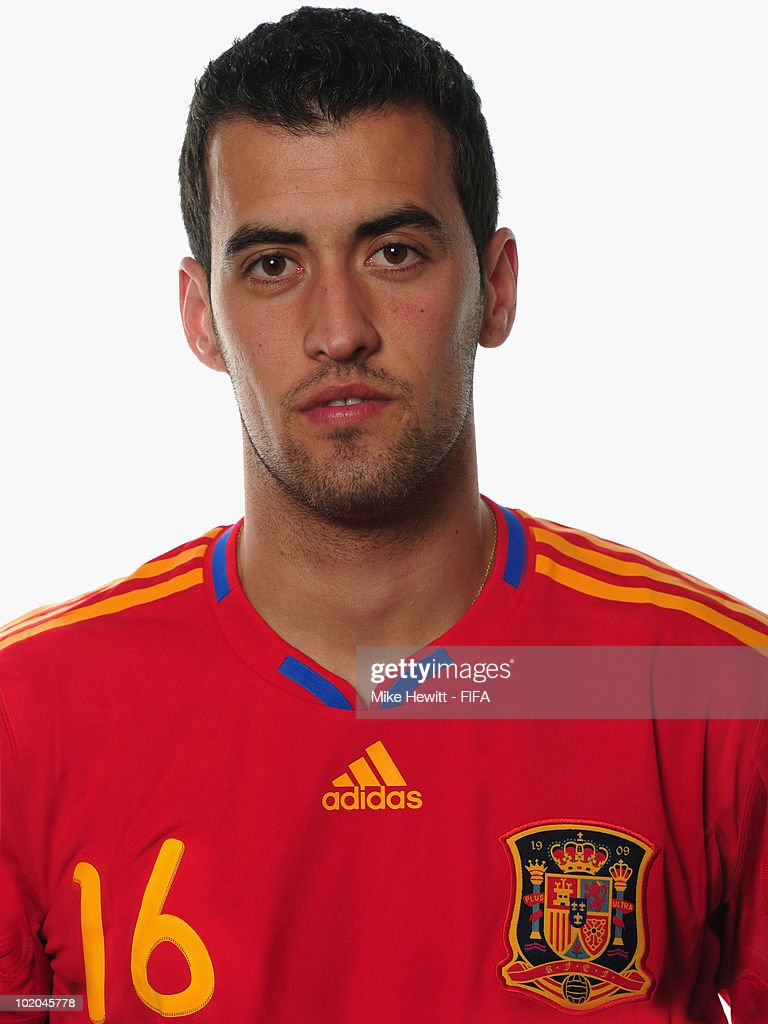Sergio Busquets of Spain poses during the official Fifa World Cup 2010 portrait session on June 13, 2010 in Potchefstroom, South Africa.