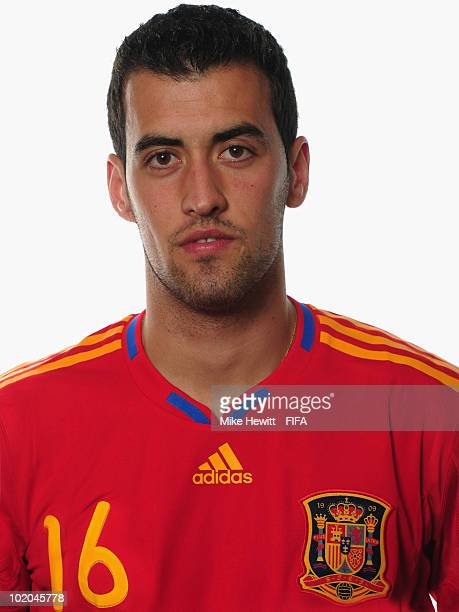 Sergio Busquets of Spain poses during the official Fifa World Cup 2010 portrait session on June 13 2010 in Potchefstroom South Africa