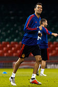 cardiff wales sergio busquets spain smiles