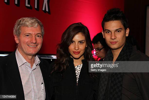 Sergio Cabrera Jessica Cediel and Pipe Bueno attend the party to celebrate the launch of Netflix in Argentina at JW Marriott on September 09 2011 in...