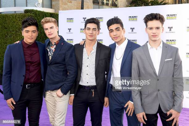 Sergio Calderon Brady Tutton Chance Perez Drew Ramos and Michael Conor of In Real Life attend 2017 Latin American Music Awards at Dolby Theatre on...
