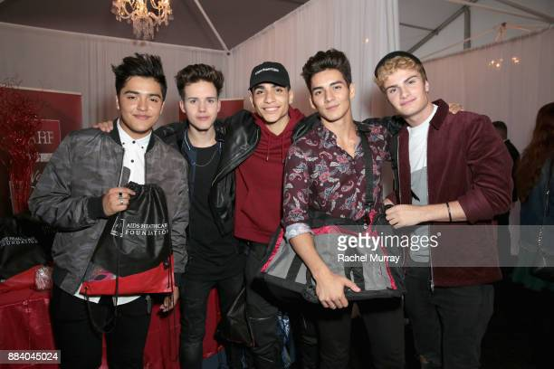 Sergio Calderon Michael Conor Drew Ramos Chance Perez and Brady Tutton of In Real Life attend the 1027 KIIS FM Artist Gift Lounge at 1027 KIIS FM's...