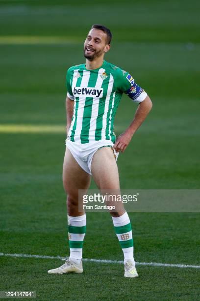 Sergio Canales of Betis reacts during the La Liga Santander match between Real Betis and Sevilla FC at Estadio Benito Villamarin on January 02, 2021...