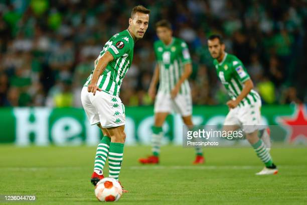 Sergio Canales of Real Betis during the UEFA Europa League match between Real Betis and Bayer 04 Leverkusen played at Benito Villamarin Stadium on...