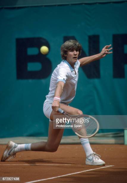 Sergio Casal of Spain in action during the French Open Tennis Championships at Roland Garros Stadium in Paris circa May 1983 Casal was defeated in...