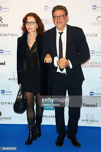 Sergio Castellitto and Margaret Mazzantini attend a photocall for the 'RAI Cinema 15th Anniversary' at Auditorium Della Conciliazione on October 29,...