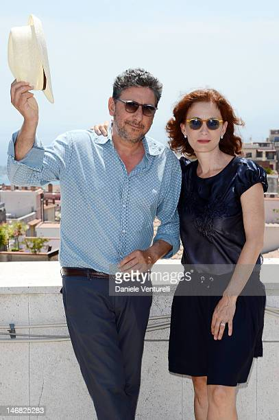 Sergio Castellitto and Margaret Mazzantini attend the Day 1 during the 58th Taormina Film Fest on June 23, 2012 in Taormina, Italy.