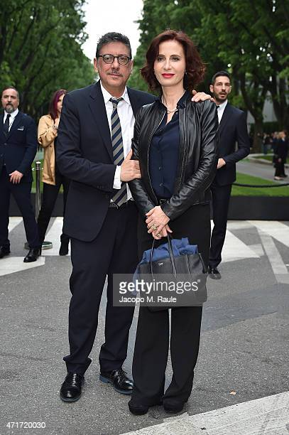 Sergio Castellitto and Margaret Mazzantini attend the Giorgio Armani 40th Anniversary Silos Opening And Cocktail Reception on April 30 2015 in Milan...