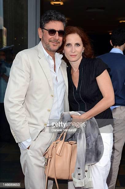 Sergio Castellitto and Margaret Mazzantini attend the 'Premio Cariddi Alla Famiglia Castellitto' during the 58th Taormina Film Fest on June 22 2012...