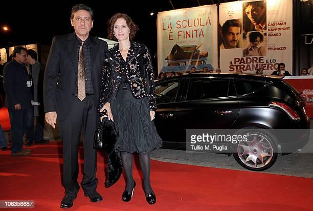 Sergio Castellitto and Margaret Mazzantini attends the 'Burke Hare' premiere during the 5th Rome International Film Festival on October 29 2010 in...
