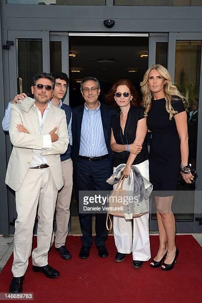 Sergio Castellitto Cesare Castellitto Mario Sesti Margaret Mazzantini and Tiziana Rocca attend the 'Premio Cariddi Alla Famiglia Castellitto' during...
