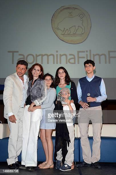 Sergio Castellitto, Margaret Mazzantini, Anna Castellitto, Maria Castellitto, Cesare Castellitto and Pietro Castellitto attend the 'Premio Cariddi...