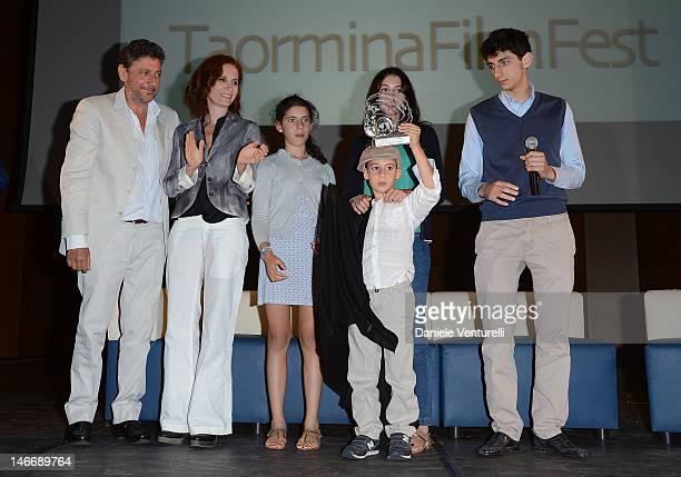 Sergio Castellitto Margaret Mazzantini Anna Castellitto Maria Castellitto Cesare Castellitto and Pietro Castellitto attend the 'Premio Cariddi Alla...