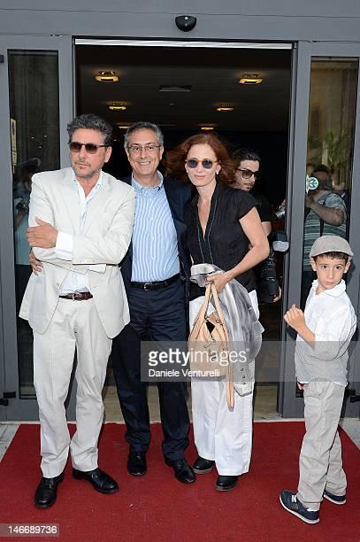 Sergio Castellitto Mario Sesti Margaret Mazzantini and Cesare Castellitto attend the 'Premio Cariddi Alla Famiglia Castellitto' during the 58th...