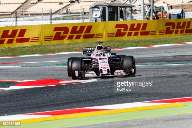 Sergio Checo Perez team Force India during the Formula One GP of Spain 2017 celebrated at Circuit Barcelona Catalunuya on 18th September 2017 in...