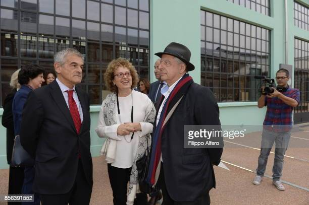 Sergio Chiamparino president of the Piedmont Region togheter with South African artist William Kentridge and Carolyn ChristovBakargievan American...