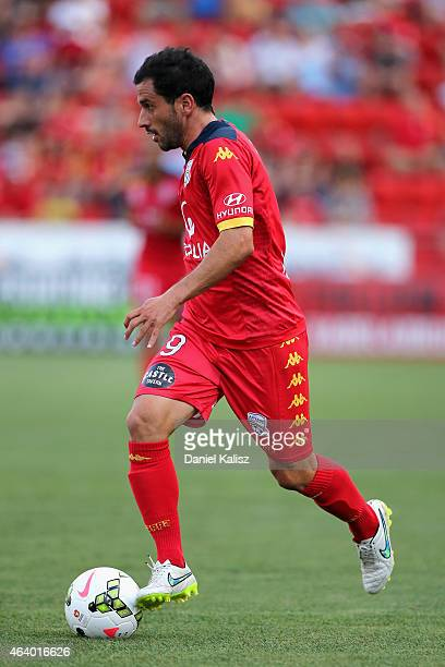 Sergio Cirio of United controls the ball during the round 18 ALeague match between Adelaide United and Western Sydney Wanderers at Coopers Stadium on...