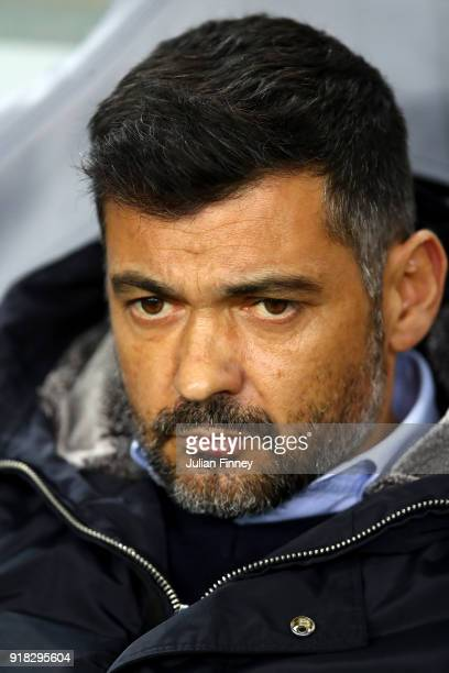 Sergio Conceicao Head Coach of Porto during the UEFA Champions League Round of 16 First Leg match between FC Porto and Liverpool at Estadio do Dragao...