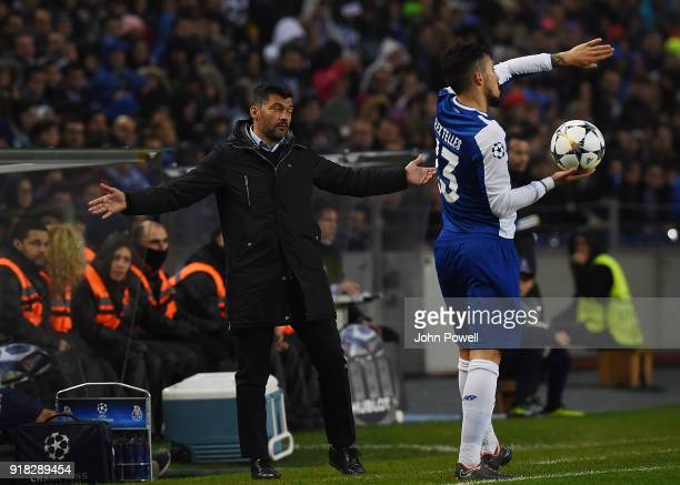 Sergio Conceicao manager of FC Porto during the UEFA Champions League Round of 16 First Leg match between FC Porto and Liverpool at Estadio do Dragao...