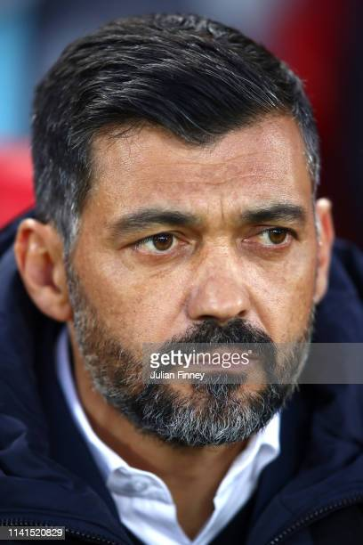 Sergio Conceicao manager of FC Porto looks on prior to the UEFA Champions League Quarter Final first leg match between Liverpool and Porto at Anfield...