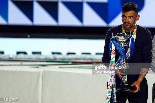 Sergio Conceicao of FC Porto with the Portuguese Cup trophy after the Portuguese Cup Final match between SL Benfica and FC Porto at Estadio Cidade de...