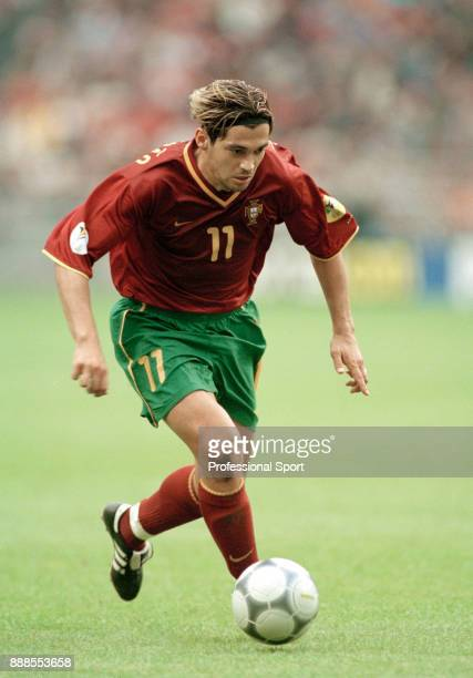 Sergio Conceicao of Portugal in action during the UEFA Euro 2000 Quarter Final between Portugal and Turkey at the Amsterdam ArenA on June 24 2000 in...