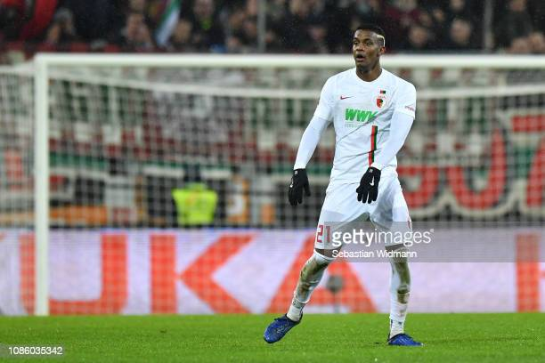 Sergio Cordova of Augsburg looks on during the Bundesliga match between FC Augsburg and VfL Wolfsburg at WWKArena on December 23 2018 in Augsburg...