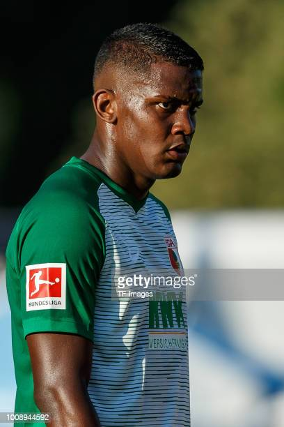 Sergio Cordova of FC Augsburg looks on during the Friendly match between Borussia Moenchengladbach and FC Augsburg on July 26 2018 in RottachEgern...