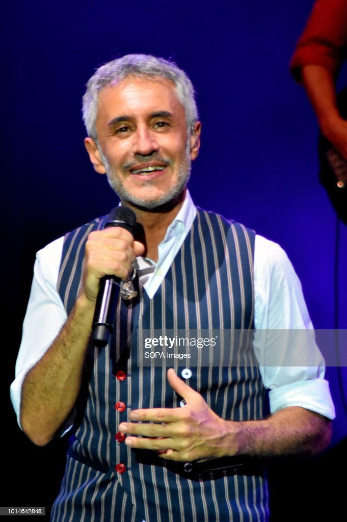Sergio Dalma seen performing  Live Concert of Spanish singer Sergio