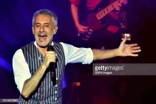 Sergio Dalma seen performing Live Concert of Spanish singer Sergio Dalma it attracted 1700 people in Tarragona city This was part of his VIA DALMA...