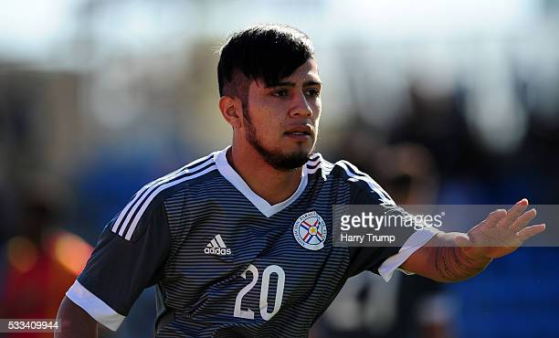 Sergio Diaz of Paraguay during the Toulon Tournament match between Guinea and Paraguay at Stadium Leo Lagrange on May 19 2016 in Toulon France