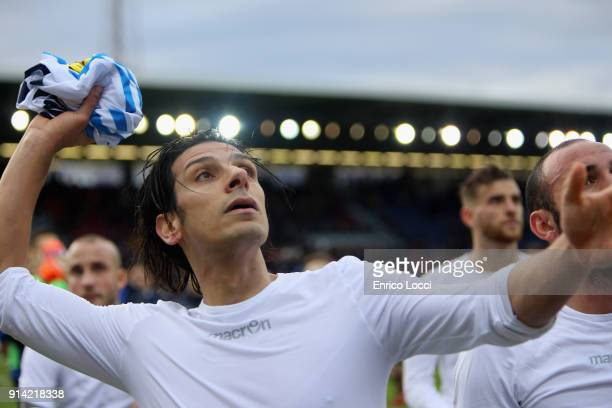 Sergio Floccari of Spal at the end of the serie A match between Cagliari Calcio and Spal at Stadio Sant'Elia on February 4 2018 in Cagliari Italy