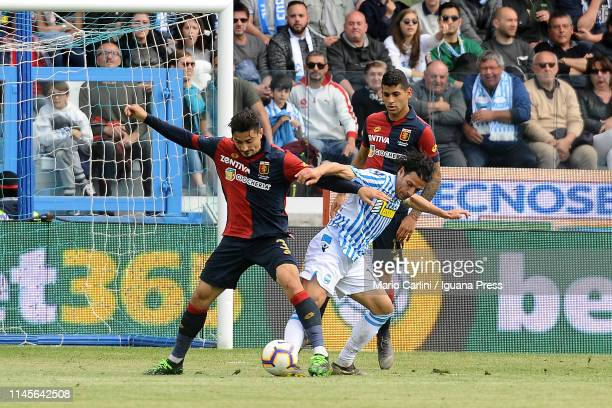 Sergio Floccari of SPAL in action during the Serie A match between SPAL and Genoa CFC at Stadio Paolo Mazza on April 28 2019 in Ferrara Italy
