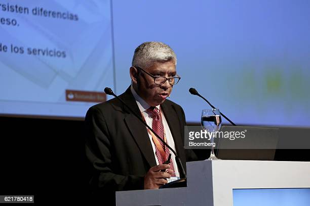 Sergio Galvan chief economist and money manager at Banco Santander Rio SA speaks during the 50th Anniversary Federation of Latin American Banks...
