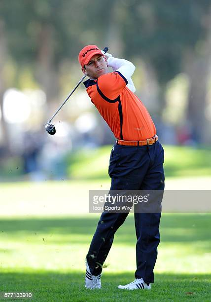 Sergio Garcia during the first round of the Northern Trust Open played at the Riviera Country Club in Pacific Palisades, CA.
