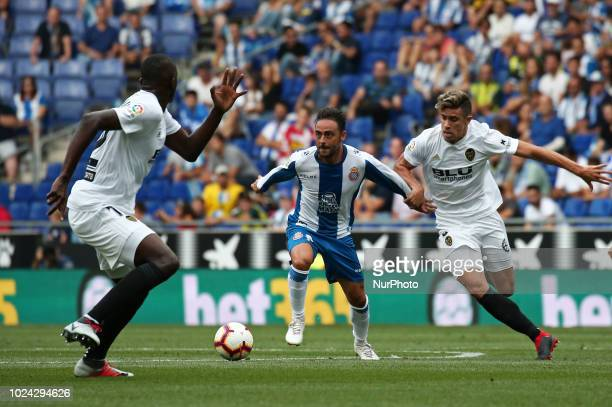 Sergio Garcia during the match between RCD Espanyol and Valencia CF corresponding to the week 2 of que spanish league played at the RCDE Stadium on...