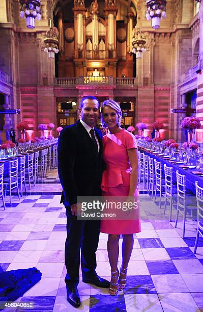Sergio Garcia of Europe and Katharina Boehm pose during the 2014 Ryder Cup Gala Dinner at Kelvingrove Art Gallery and Museum on September 24 2014 in...
